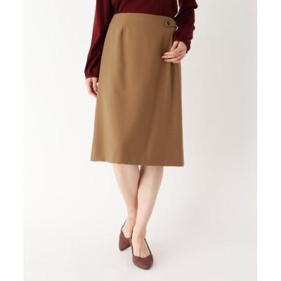 Lui Chantant(ルイシャンタン) ウエストボタンひざ丈スカート