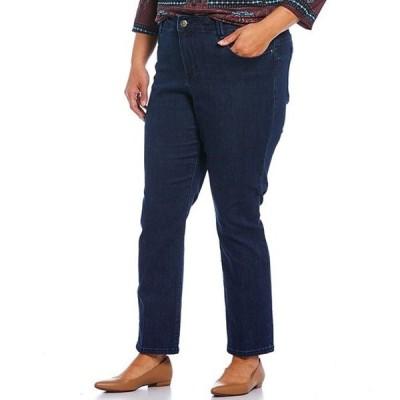 ルビーアールディー レディース カジュアルパンツ ボトムス Plus Size Straight Leg Stretch Denim Pants