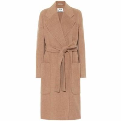 アクネ ストゥディオズ Acne Studios レディース コート アウター Belted wool coat Camel Melange