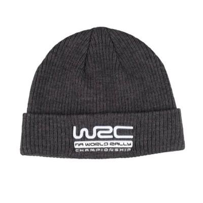 WRC オフィシャル Ribbed ビーニー グレー ニット キャップ 帽子 防寒