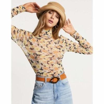 ファッションユニオン Fashion Union レディース トップス High Neck Long Sleeve Top In Floral Mesh Co-Ord