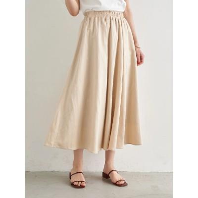 【WEB限定】ギャザーフレアスカート