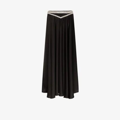 パコラバンヌ Paco Rabanne レディース ロング・マキシ丈スカート スカート diamante waistband maxi skirt black