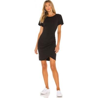 パム&ジェラ Pam & Gela レディース ワンピース ラップドレス ラップスカート Tシャツワンピース T-Shirt Dress With Wrap Skirt Black