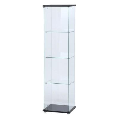 【メーカー直送】 不二貿易 ガラスコレクションケース(クリア)4段 TMG−G130 TMG-G130 98880 KNS