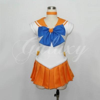 美少女戦士セーラームーン 愛野 美奈子 セーラーヴィーナス コスプレ 衣装 cc1254(cc1254)