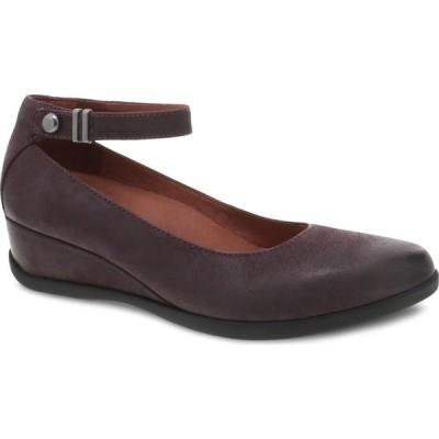ダンスコ DANSKO レディース パンプス アンクルストラップ シューズ・靴 Shaylee Waterproof Ankle Strap Pump Fig Waterproof Leather
