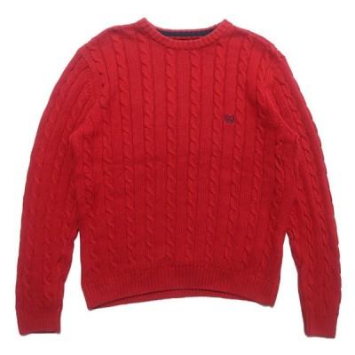 古着 チャップス ラルフローレン ワンポイント ロゴ コットン ニット セーター サイズ表記:M