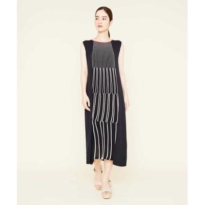 Sybilla/シビラ ストライプデザインニットドレス ブラック 40