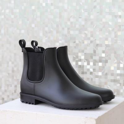 【レイン対応】ラウナレア Launa lea RainyDay サイドゴアショートブーツ(R9006) (ブラックZ)