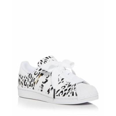 アディダス レディース スニーカー シューズ Women's Superstar Leopard Print Low Top Sneakers White/Blue