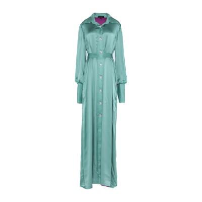 IVAN MONTESI ロングワンピース&ドレス ライトグリーン 38 シルク 100% ロングワンピース&ドレス