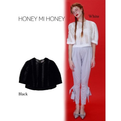 60%OFF  Honey mi Honey ハニーミーハニー deformation lace blouse  17春夏. 17S-TA-36