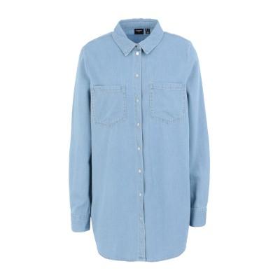 VERO MODA デニムシャツ ブルー XS オーガニックコットン 100% デニムシャツ