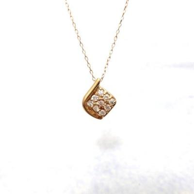 K18PG ダイヤモンド 0.10ct ネックレス