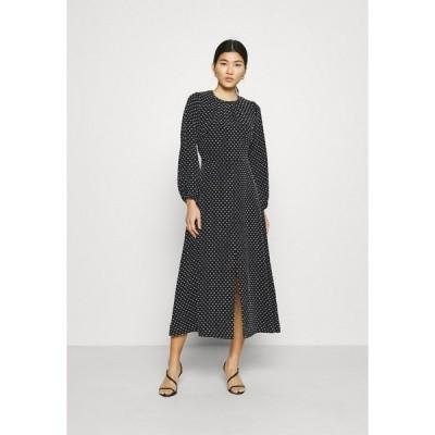 クローゼット ワンピース レディース トップス GATHERED NECK DRESS - Day dress - black