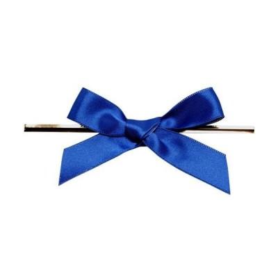 青山リボン リーガルタイドボウ ビニタイ付 18mm×100個 #022 7214-22 加工タイ+リボン