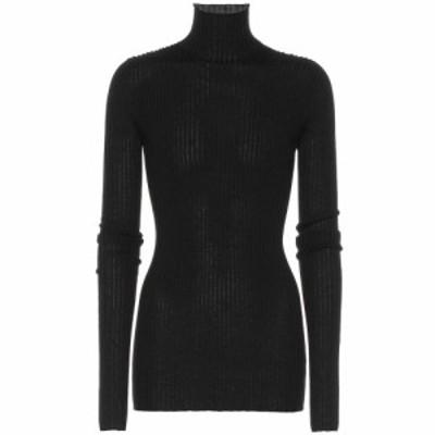 ジル サンダー Jil Sander レディース ニット・セーター トップス Wool and silk turtleneck sweater Black