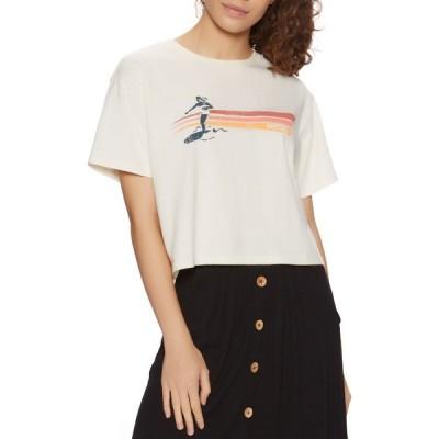 リップカール Rip Curl レディース ベアトップ・チューブトップ・クロップド Tシャツ トップス golden state crop short sleeve t-shirt Bone