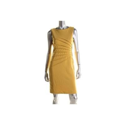 ドレス 女性  イヴァンカトランプ Ivanka Trump 1114 レディース イエロー Ponte Wide Pintuck Wear to Work ドレス 16