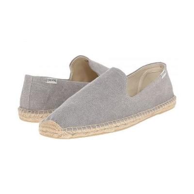 Soludos ソルドス メンズ 男性用 シューズ 靴 ローファー Smoking Slipper - Washed Canvas Light Gray