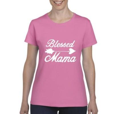 レディース 衣類 トップス Womens Blessed Mama Short Sleeve T-Shirt Tシャツ
