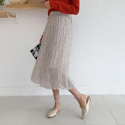 ENVYLOOK レディース スカート Flower Fang Wrinkle Skirt