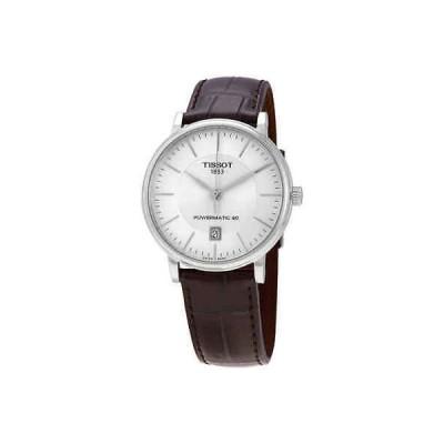腕時計 ティソット メンズ Tissot Carson Premium Silver Dial Automatic Men's Watch T1224071603100