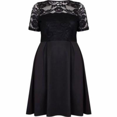 メラ ロンドン Mela London Curve レディース ワンピース ワンピース・ドレス Lace Top Dress Black