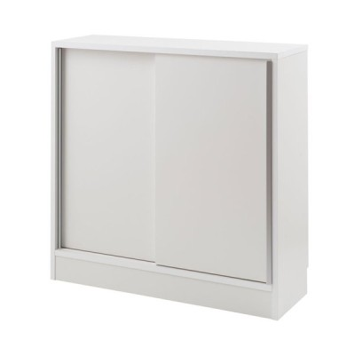 スタイリッシュデザイン カウンター下 幅90 引戸 ホワイト NO−0125【代引きのみ】