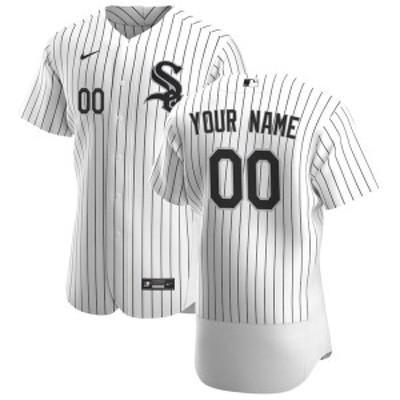 ナイキ メンズ Tシャツ トップス Chicago White Sox Nike 2020 Home Authentic Custom Jersey White/Black
