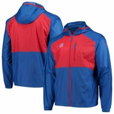 Columbia コロンビア スポーツ用品  Columbia Atlanta Braves Royal Cooperstown Collection Flash Forward Full-Zip Windbreaker Jacket