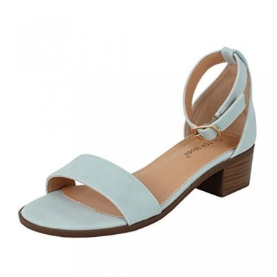 トップモーダ レディース パンプス Top Moda Women's Ankle Strap Open Toe Heeled Sandal