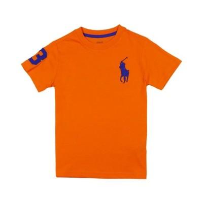 ポロ ラルフローレン POLO RALPH LAUREN ボーイズ Boys 半袖 Tシャツ ビッグポニー Big Pony Cotton Jersey Tee セーリング オレンジ Sailing Orange