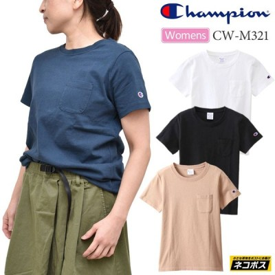チャンピオン Champion Tシャツ 半袖 レディース トップス ウィメンズ ポケットTシャツ WOMENS POCKET T-SHIRT CWM321 sst [M便 1/2]  正規取扱店