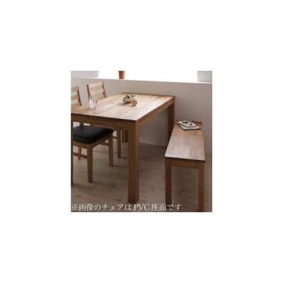 ダイニングテーブルセット 4人用 椅子 ベンチ おしゃれ 北欧 食卓 4点 ( 机+チェア2+長椅子1 ) 板座 幅160 デザイナーズ スタイリッシュ ウォールナット 無垢