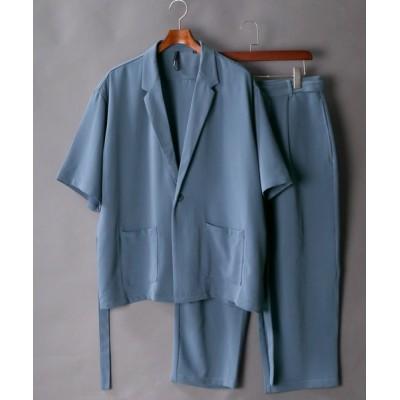 SITRY / Half sleeve oversize tailored jacket/ハーフスリーブ オーバーサイズ テーラード シャツジャケット【2021SS】 MEN トップス > シャツ/ブラウス