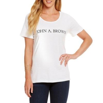 ヘリテージ レディース Tシャツ トップス John A. Brown Logo Tee John A Brown