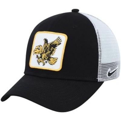 ナイキ メンズ 帽子 アクセサリー Iowa Hawkeyes Nike Throwback Logo Classic 99 Trucker Adjustable Snapback Hat Black
