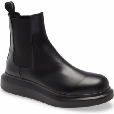 アレキサンダー マックイーン ALEXANDER MCQUEEN メンズ ブーツ チェルシーブーツ シューズ・靴 Platform Chelsea Boot Black/Black