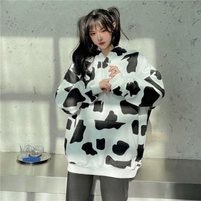 【送料無料】ゆるかわ 牛柄 ゆったり ラフコーデ ルームウェア AT-0029