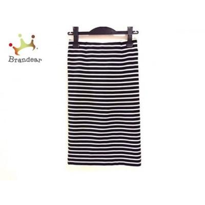 ドゥーズィエム DEUXIEME CLASSE スカート サイズ36 S レディース 黒×アイボリー ボーダー     スペシャル特価 20200509