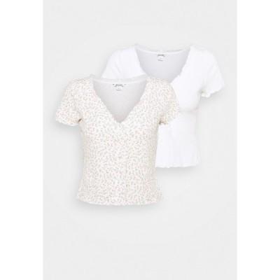 モンキ Tシャツ レディース トップス SONJA 2 PACK - Print T-shirt - off white