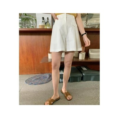 From Beginning レディース ショートパンツ Mini pocket pintuck half pants