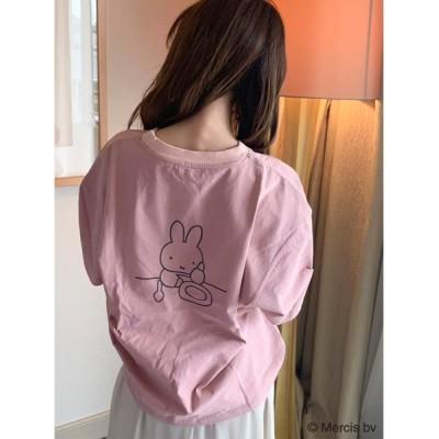 tシャツ Tシャツ dazzlin×miffyキャロットアートTシャツ