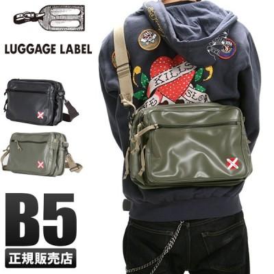 吉田カバン ラゲッジレーベル ライナー ショルダーバッグ メンズ レディース 赤バッテン B5 LUGGAGE LABE 951-09240