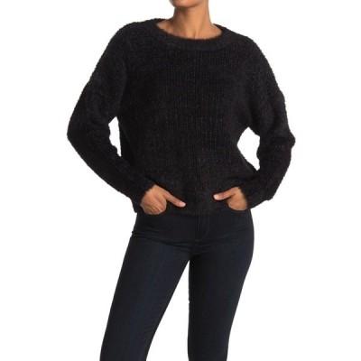フレンチ レディース ニット&セーター アウター Cropped Crew Neck Sweater BLACK