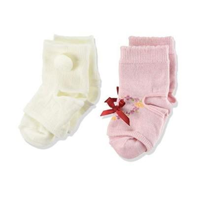 [オカモト] 赤ちゃんが引っ張っても脱げにくい靴下 かかぽっけ ベビーソックス レッグウォーマー 2足セット ズレ脱げ防止 しめつけない 綿混素材 男
