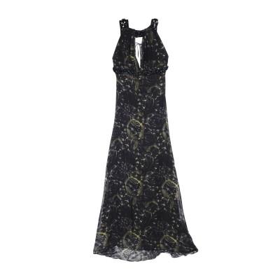 PHILIPP PLEIN ロングワンピース&ドレス ダークグリーン XS シルク 100% ロングワンピース&ドレス
