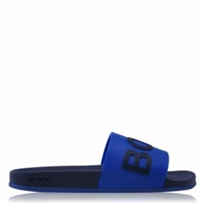 ヒューゴ ボス Boss メンズ サンダル シャワーサンダル シューズ・靴 Bay Pool Sliders Blue/Navy